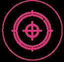 Icon cible creation de contenus