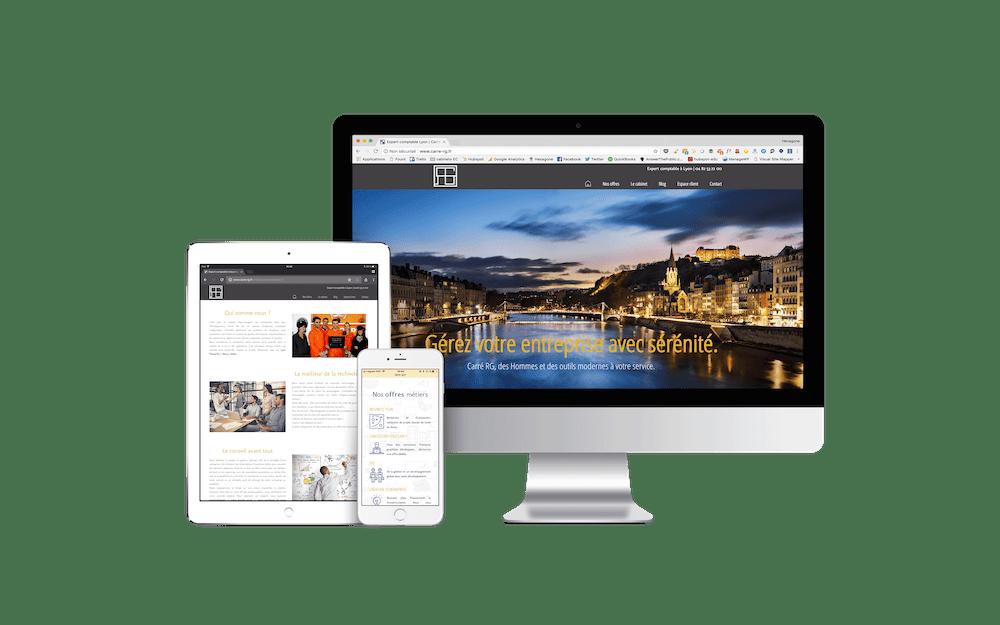 Site internet cabinet Carre RG - Lyon